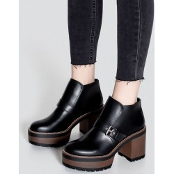 PULL&BEAR Boots, Buckle Heel Ankle Boots