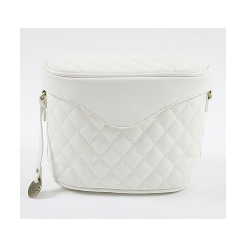 Carpisa Bag White Quilted Cosmetic/Makeup Travel B...