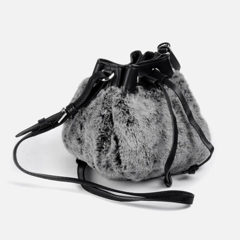 CHARLES & KEITH Bag, Shoulder Fur Bag