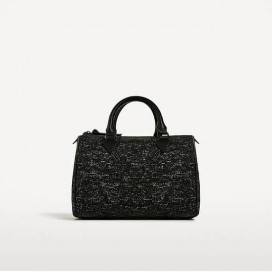 ZARA Bag, Bowling Bag Marled Fabric