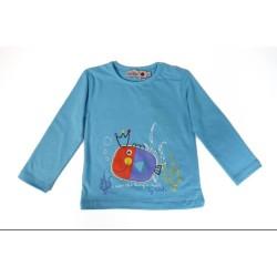 Boboli Blouse, Kid's Blue Blouse, 100% Cotton