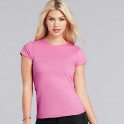 GILDAN Softstyle T-Shirt, Pink Short Sleeved T-Shirt For Women's