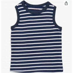 INEXTENSO Kid's Tank Striped Top, 100% Cotton