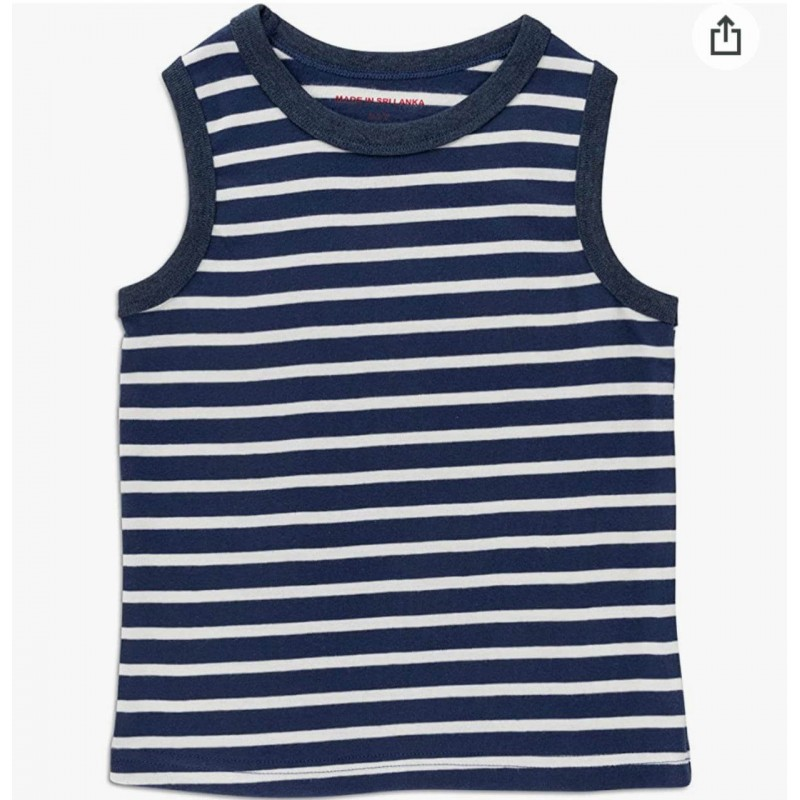 INEXTENSO Kid's Tank Striped Top, 100% Cotton