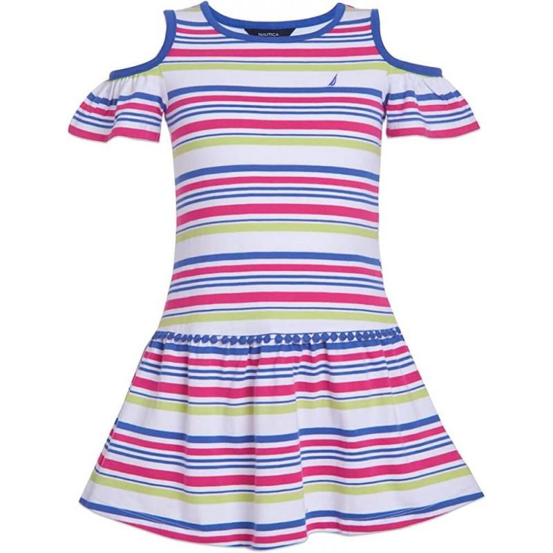 NAUTICA Dress, Off-Shoulders Striped Dress For Gir...