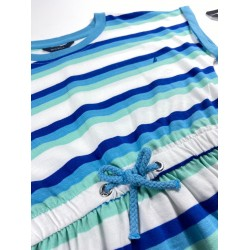 NAUTICA Dress, White Striped Dress For Girl's