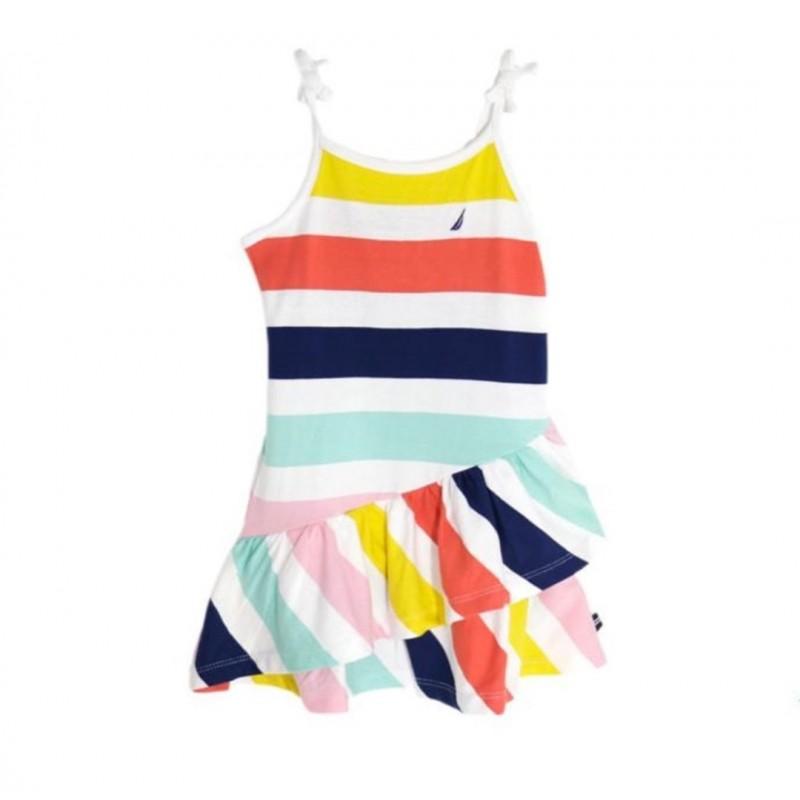 NAUTICA Dress, Striped Colours Dress For Girl's