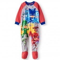 PJ Masks Toddler Boys, Microfleece Footed Blanket Sleeper