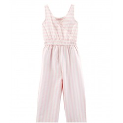Carter's Jumpsuit, Stretch Waist, Striped Jumpsuit For Girl's