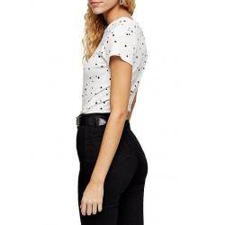 SELA T-Shirt, White Short Sleeved T-Shirt For Girl's