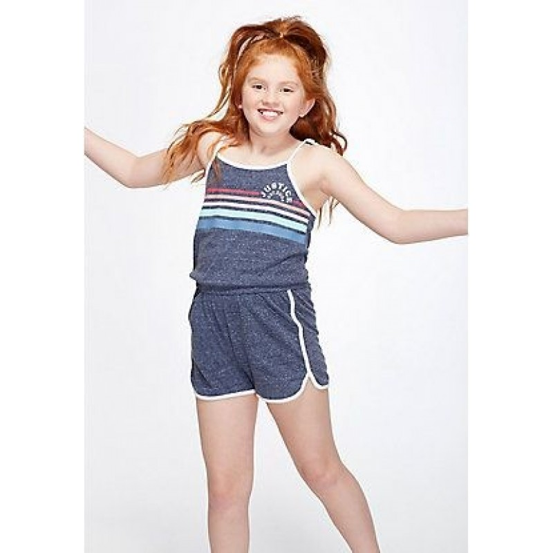 Justice Jumpsuit, Girl's Summer Short Jumpsuit