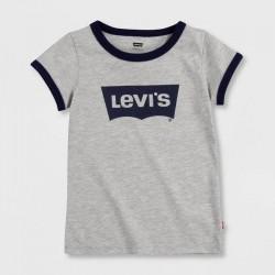 Levi's T-Shirt, For Kid's in Modern Design, Gray Colour