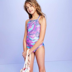 More than magic Swimsuit, Girl's Fish Scales One Piece