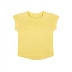 Mothercare T-Shirt, Yellow Pintuck T-Shirt For Girls