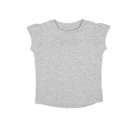 Mothercare T-Shirt, Gray Pintuck T-Shirt For Girls