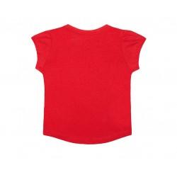 Mothercare T-Shirt, Red Pintuck T-Shirt For Girls