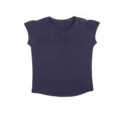 Mothercare T-Shirt, Navy Blue Pintuck T-Shirt For Girls