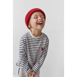 ZARA Blouse, Striped Cotton Blouse with Embroidery For Kid's