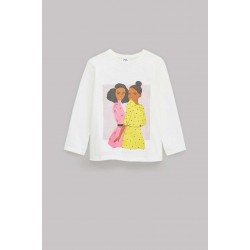 ZARA Blouse For Girl's, Long Sleeves with Girl Print