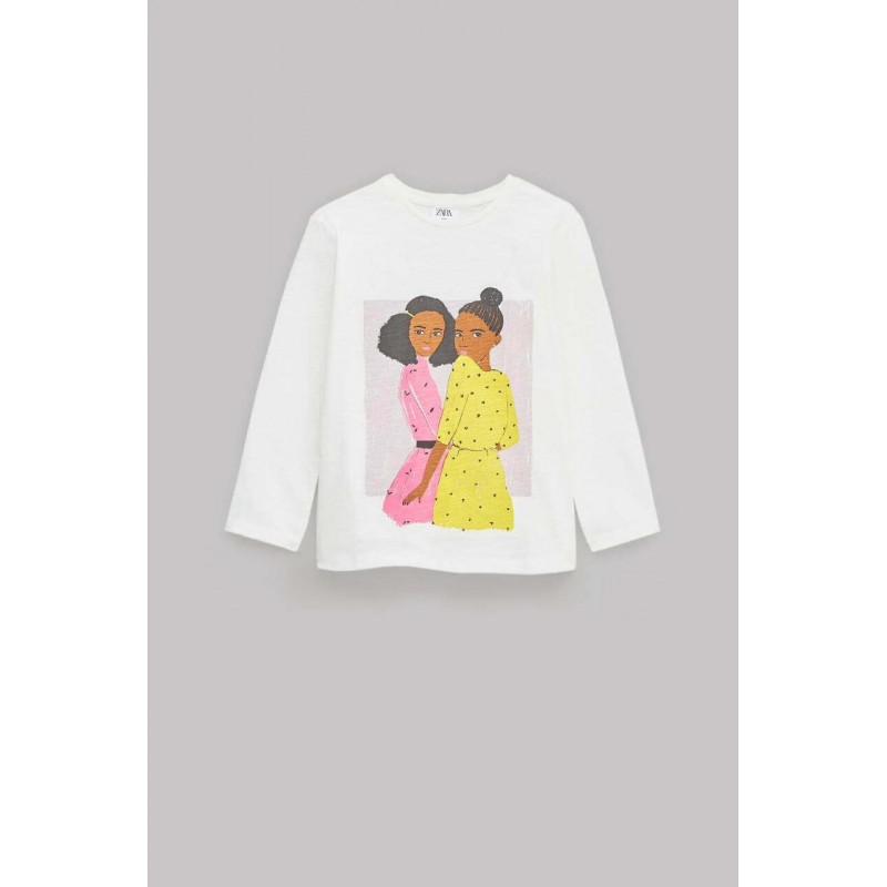 ZARA Blouse For Girl's, Long Sleeves with Girl Pri...