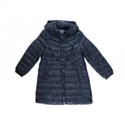 Zara Jacket, Girl Winter Puffer Jacket, Navy Blue