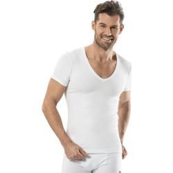 OTS & Aladham Vest V-Neck, Underwear For Men's, White Colour
