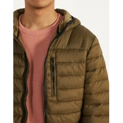Bershka Jacket, Puffy Jacket with Hood