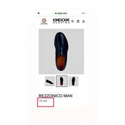 GEOX Shoes, Men's Rezzonico Leather Moccasin, navy colour