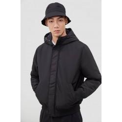 H&M Jacket, Padded Hooded Jacket-Black