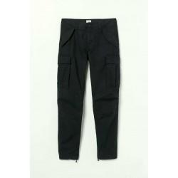 H&M Trousers, Cotton Cargo Trousers, Navy Colour