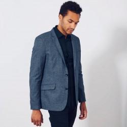 KIABI Blazer\Jacket, Slim-Fit Two-Tone Knit Jacket