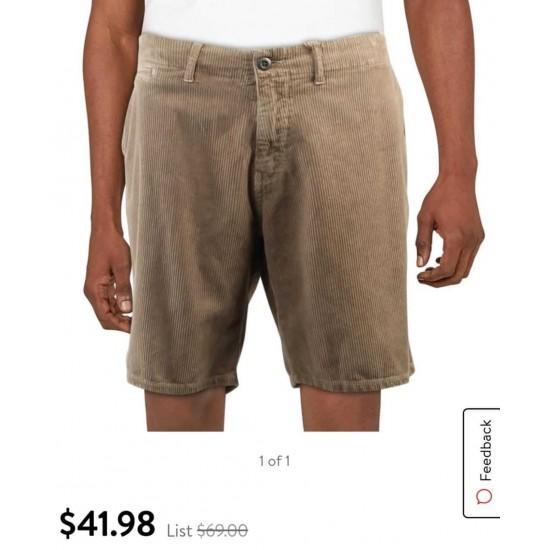 PaperBacks Short, Men Corduroy Casual Short, 100%Cotton