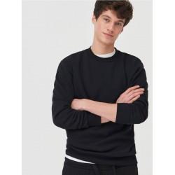 Sinsay Sweatshirt, Basic Black Sweatshirt For Men's