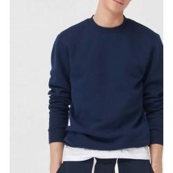 Sinsay Sweatshirt, Basic Navy Sweatshirt For Men's