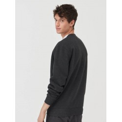 Sinsay Sweatshirt, Basic Sweatshirt For Men's, Charcoal Colour