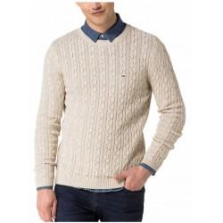 Tommy Hilfiger Blouse, Cotton Cable-Knit Blouse, Creme Color