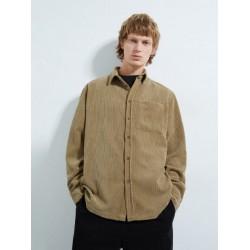ZARA Overshirt,, Corduroy Overshirt, Luxury Design