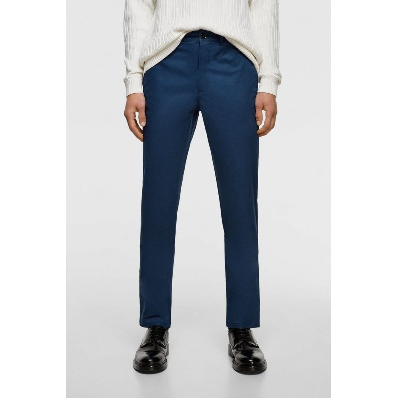 ZARA Pants, SLIM FIT, Navy Blue For Men's