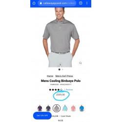 CALLAWAY T-Shirt, Men's Cooling Birdseye Polo