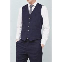 MANGO Vest, Men's Dark Blue Striped Vest