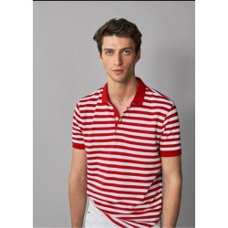 Massimo Dutti T-Shirt, Striped Polo Regular Fit T-Shirt