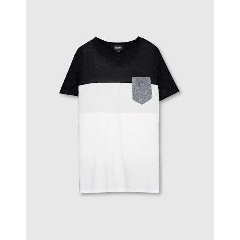PULL&BEAR Top, with 3 Contrasting Panels