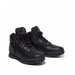 Timberland Boot, Euro Hiker Black Smooth, Men's