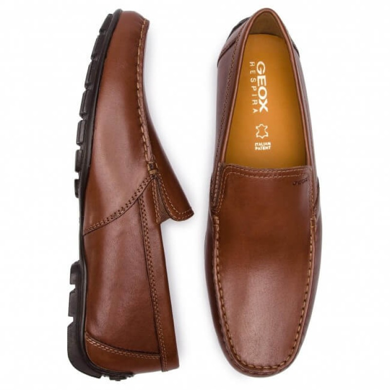 GEOX Shoes, Genuine Leather Slip-on Shoes For Men'...