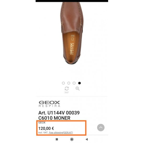 GEOX Shoes, Genuine Leather Slip-on Shoes For Men's