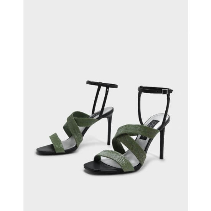 CHARLES & KEITH Sandal, Ruched Detail Strappy ...