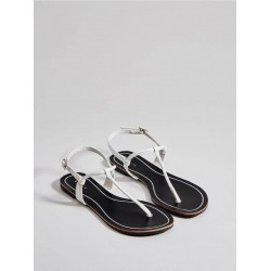 MOHITO Sandals, Faux Leather Flat Sandals