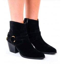 MICHAEL KORS Boot, Suede Ranch Ankle Boot with Buckle