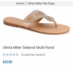 Olivia Miller Sandals\Slipper, Women's Rose Gold Deland Sandals