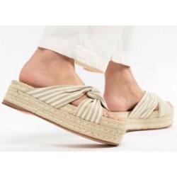 Bershka Slipper, Striped Flip Flops For Women's